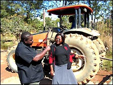 Brenda Dakka and her husband Joe at their farm in Mkushi district