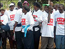 File photo of Kenyan Aids activists