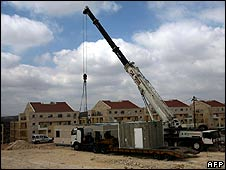 Construction of Jewish settlement near the West Bank village of Bilin