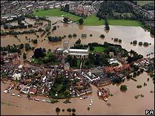 Tewkesbury underwater