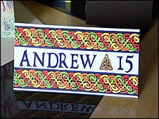 Andrew Gosden's birthday card