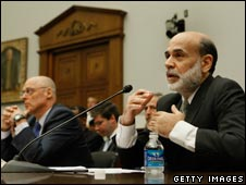 Ben Bernanke (right)  and Henry Paulson