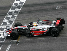 Lewis Hamilton in the McLaren at the Hockenheim test