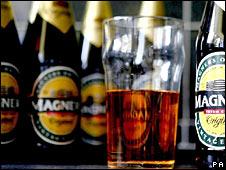 Magners cider bottles