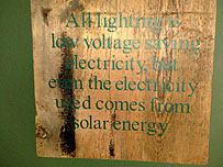 Solar energy sign