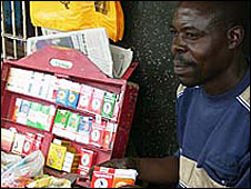 Kenyan cigarette vendor