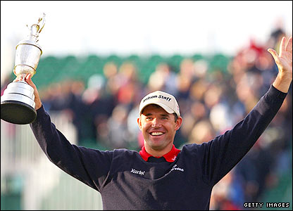 Padraig Harrington with the famous Claret Jug