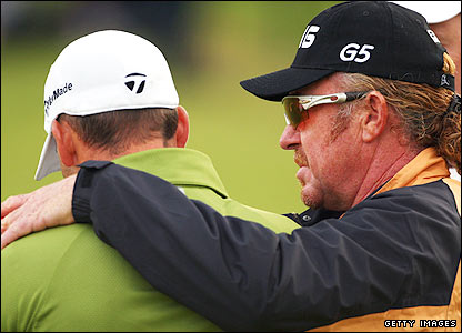 Sergio Garcia and Miguel Angel Jimenez