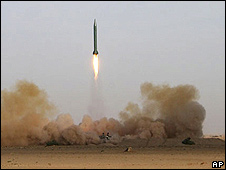 Shahab-3 missile being launched on 9 July
