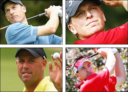 Clockwise from top left: Jim Furyk, Steve Stricker, Ben Curtis, Stewart Cink