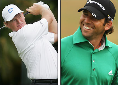 Ernie Els (left) and Sergio Garcia