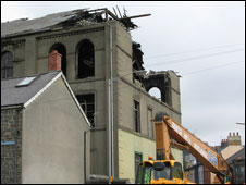 Tabernacle chapel being demolished