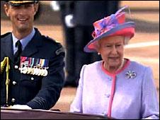 Queen arriving at ceremony