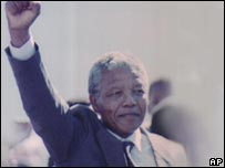 Nelson Mandela was freed on 11 February 1990