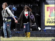 T in the Park campers