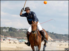 Beach polo at Sandbanks