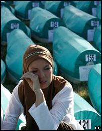Боснийская женщина в Сребренице