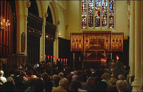 Congregation inside St Margaret's church