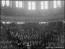 Interior of Wren's theatre
