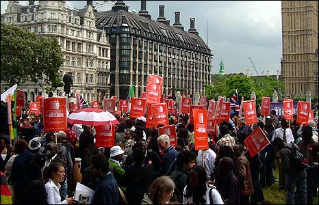 Zimbabwean rally in Parliament Square