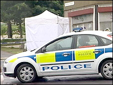 Scene of shooting in Spital Street, Sheffield