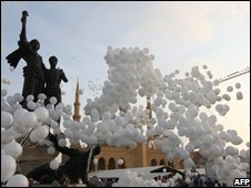 Ballons released in Beirut after May 2008 agreement