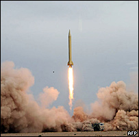 التجارب الصاروخية الايرانية 09-07-2008