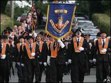 Orangemen marching