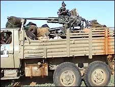Chinese-built Dong Feng truck filmed by Jem rebels inside Darfur in April 2008