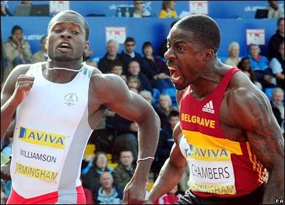 Simeon Williamson and Dwain Chambers