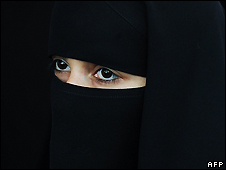 Burqa wearing woman - file photo