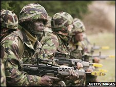 British Army recruits