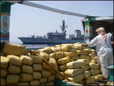 HMS Montrose and drugs haul