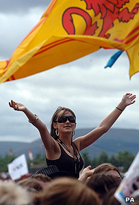 Festival-goer at T in the Park