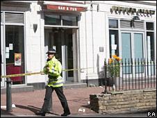 Scene of Bolton stabbing