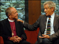 Bishop Gene Robinson and Sir Ian McKellen