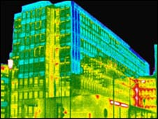 Thermal image of a government building (Image: IRT Surveys)