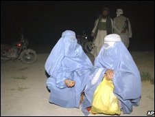 Two Afghan women talk moments before being executed by Taleban militants in Ghazni province (13/07/208)
