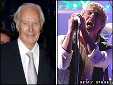 Sir George Martin and Roger Daltry