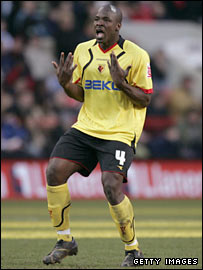 Defender Danny Shittu playing for Watford