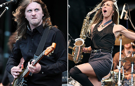 Dave McCabe and Abi Harding from The Zutons