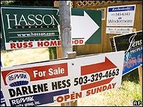Señales de casas en venta en Oregón