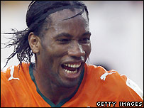 Didier Drogba of Chelsea and Ivory Coast