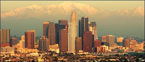 LA skyline, AP