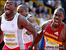 Simeon Williamson (left) and Dwain Chambers