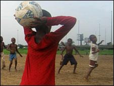 Schoolboy footballers in Nigeria