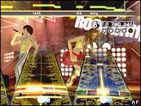 Фрагмент скрипшота игры Rock Band для Wii