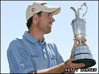 Defending Open champion Padraig Harrington