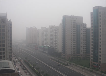 Dorothy Furberg's picture of northern Beijing on Friday 11 July