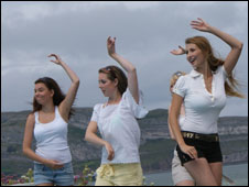 Claudia Ciesla and dancers